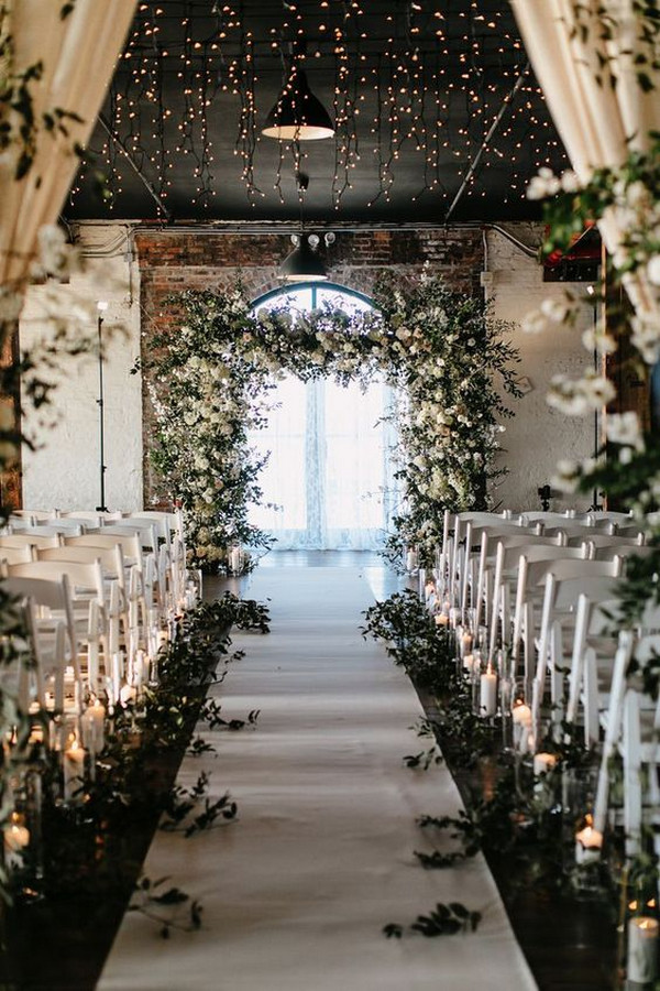 wedding ceremony decoration ideas with lights