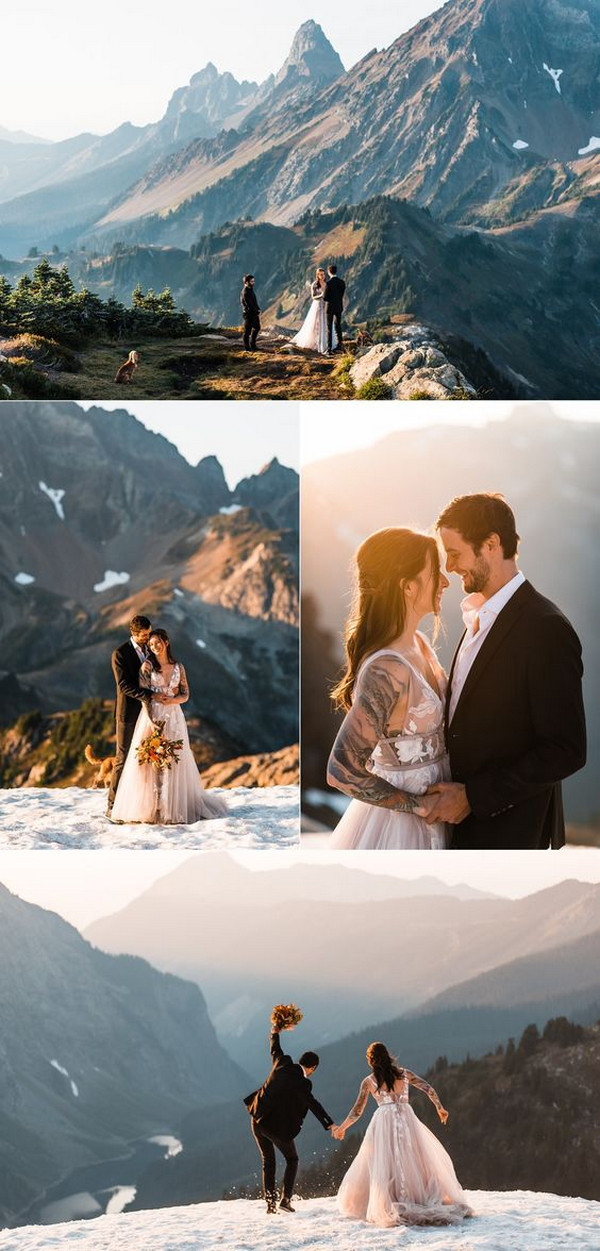 North Cascades elopement wedding ideas
