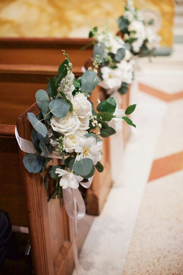 church wedding aisle decoration ideas with florals