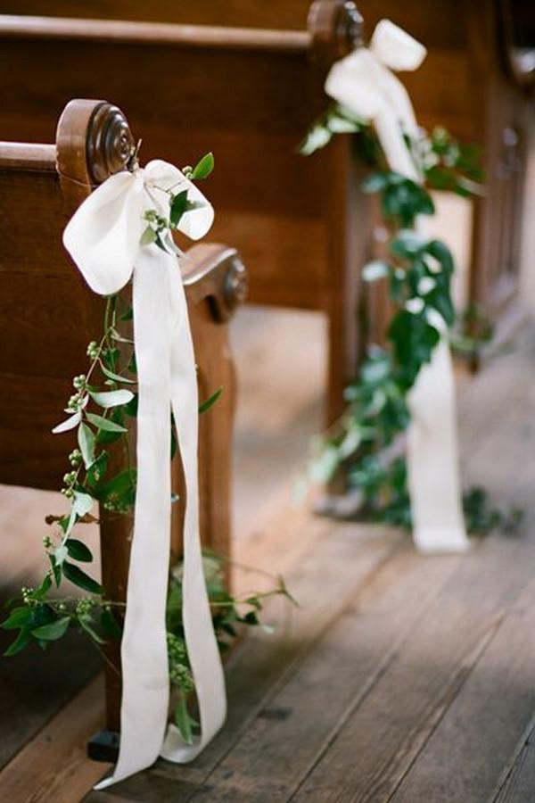 elegant church wedding aisle decoration ideas