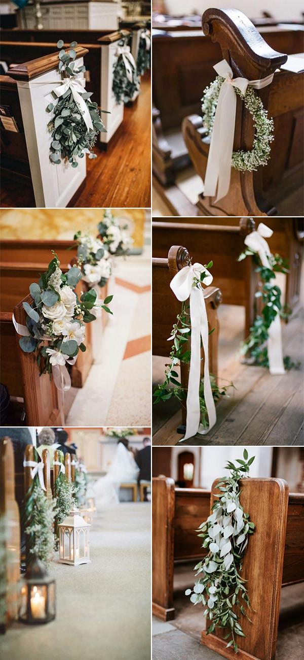 elegant church wedding aisle decorations for 2020 trends