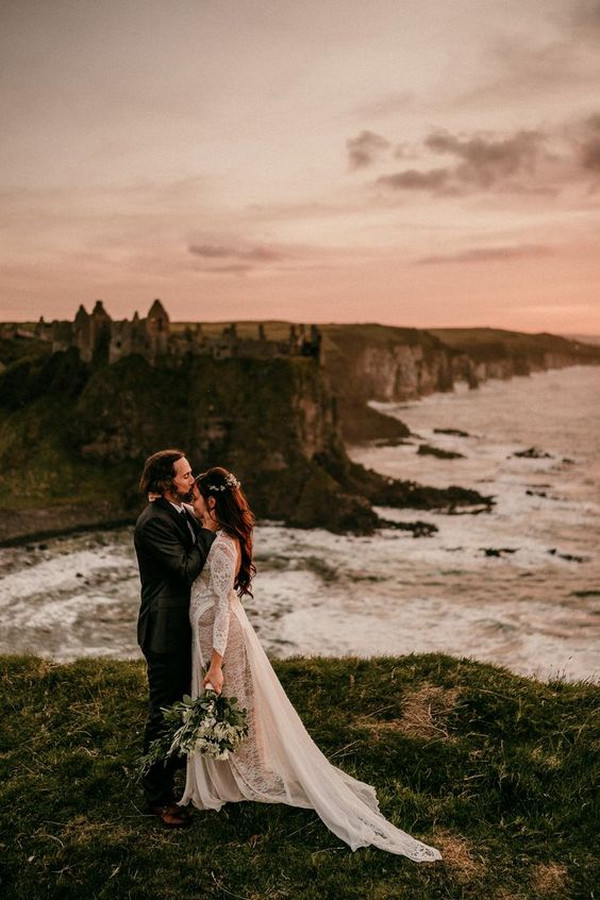 romantic sunset elopement wedding ideas