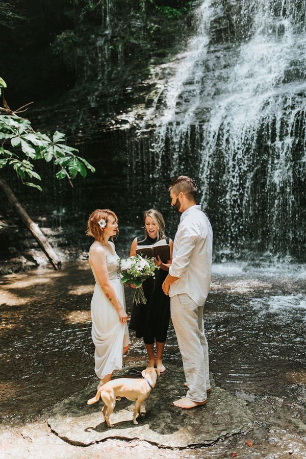 waterfall elopement wedding ideas