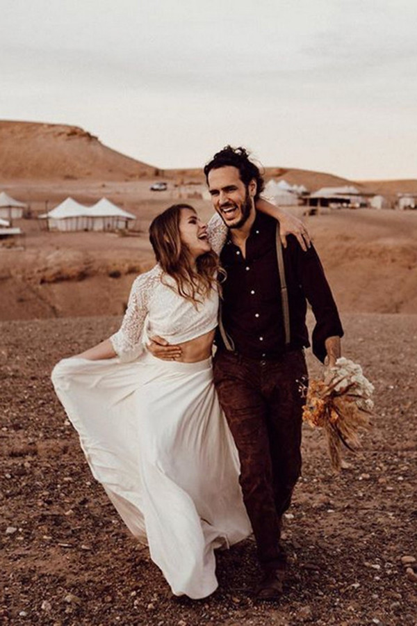 wild desert elopement wedding ideas