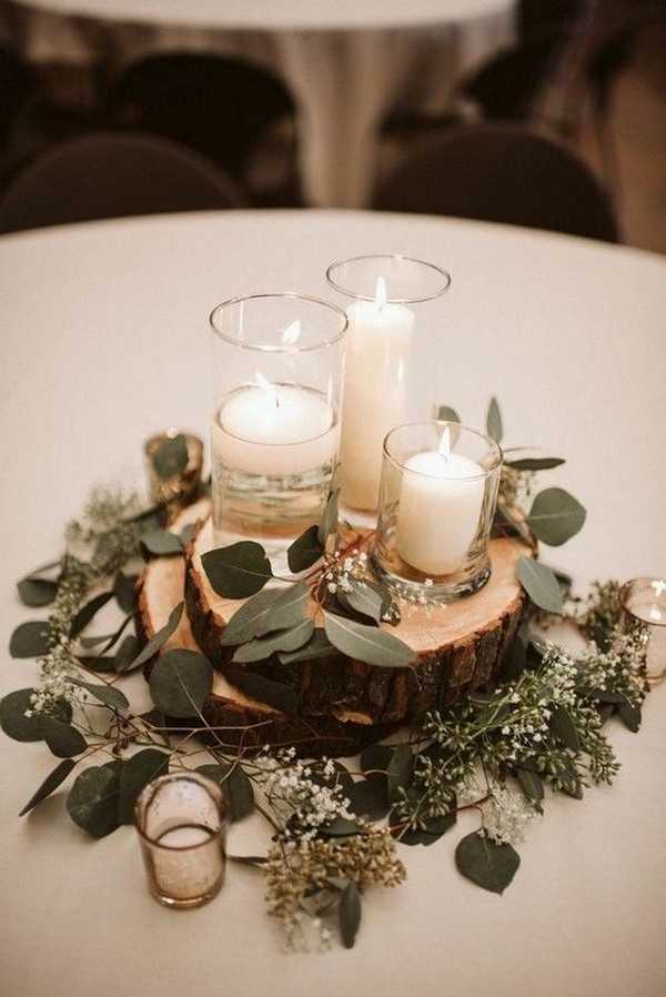budget friendly rustic wedding centerpiece ideas with candles