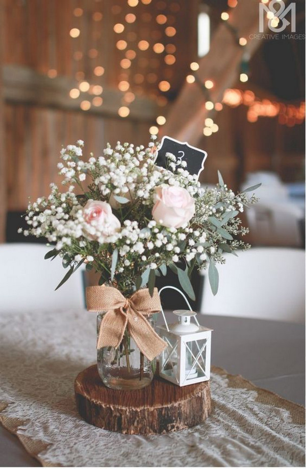budget friendly rustic wedding centerpieces