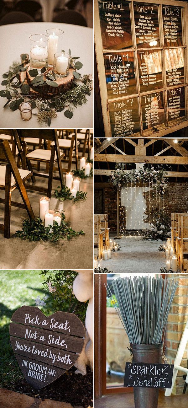budget friendly rustic wedding decors