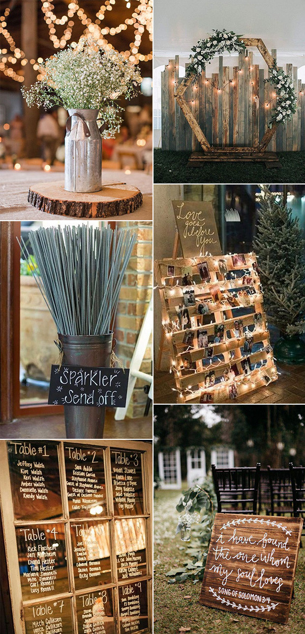 chic rustic wedding decors on a budget