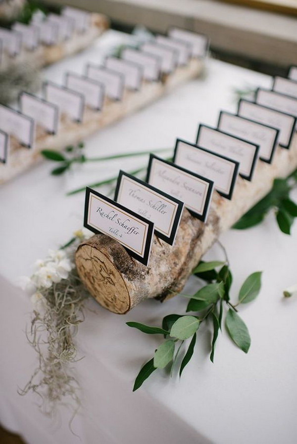 chic rustic wedding seating plan ideas