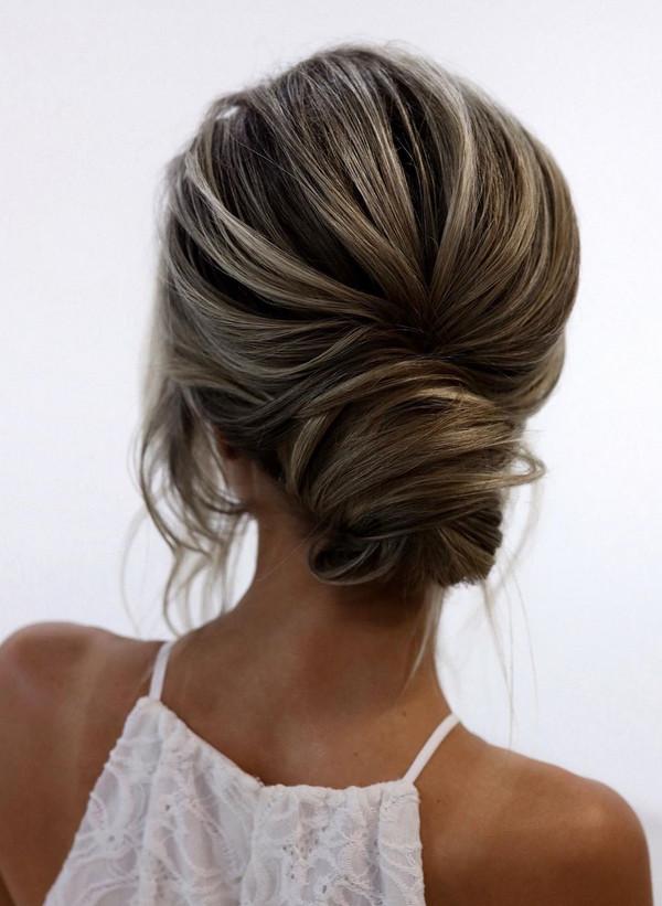 elegant updo wedding hairstyles for 2020 brides 11