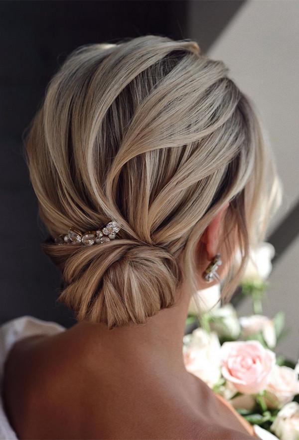 elegant updo wedding hairstyles for 2020 brides 14