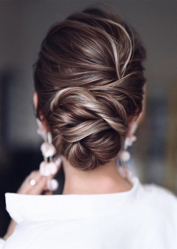 elegant updo wedding hairstyles for 2020 brides 16
