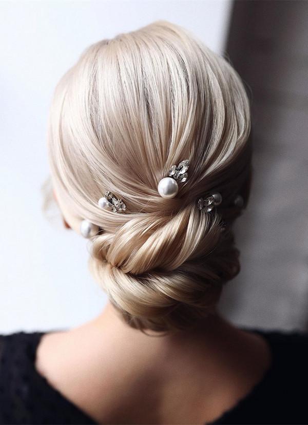 elegant updo wedding hairstyles for 2020 brides 17