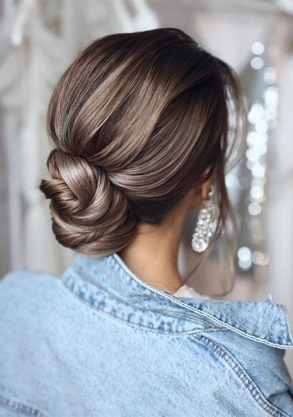 elegant updo wedding hairstyles for 2020 brides 18