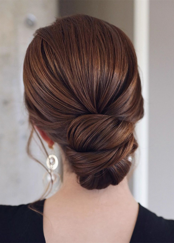 elegant updo wedding hairstyles for 2020 brides 21