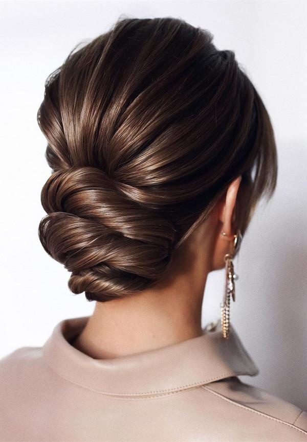 elegant updo wedding hairstyles for 2020 brides 25