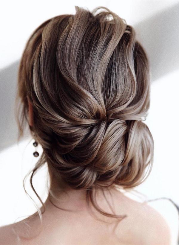 elegant updo wedding hairstyles for 2020 brides 26