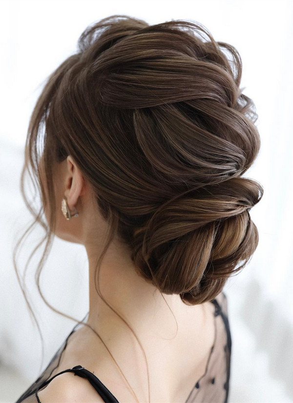 elegant updo wedding hairstyles for 2020 brides 4