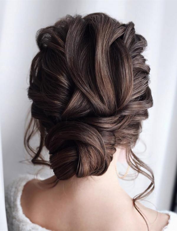 elegant updo wedding hairstyles for 2020 brides 6