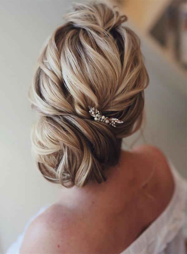 elegant updo wedding hairstyles for 2020 brides 7