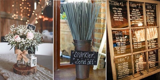 rustic wedding decors