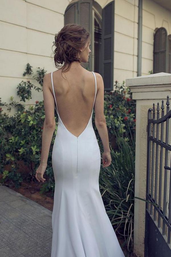 elegant simple sheath wedding dress