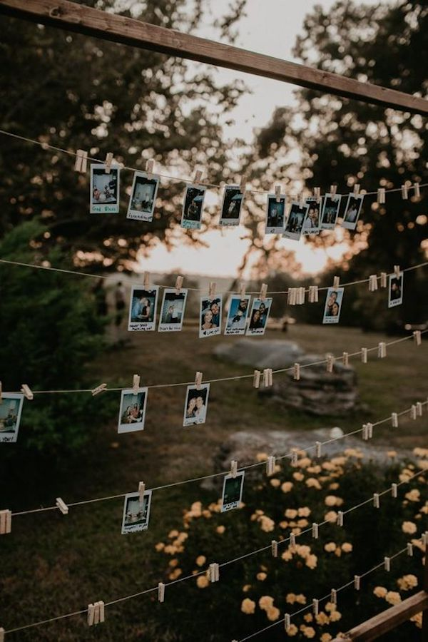 backyard wedding photo display ideas on a budget