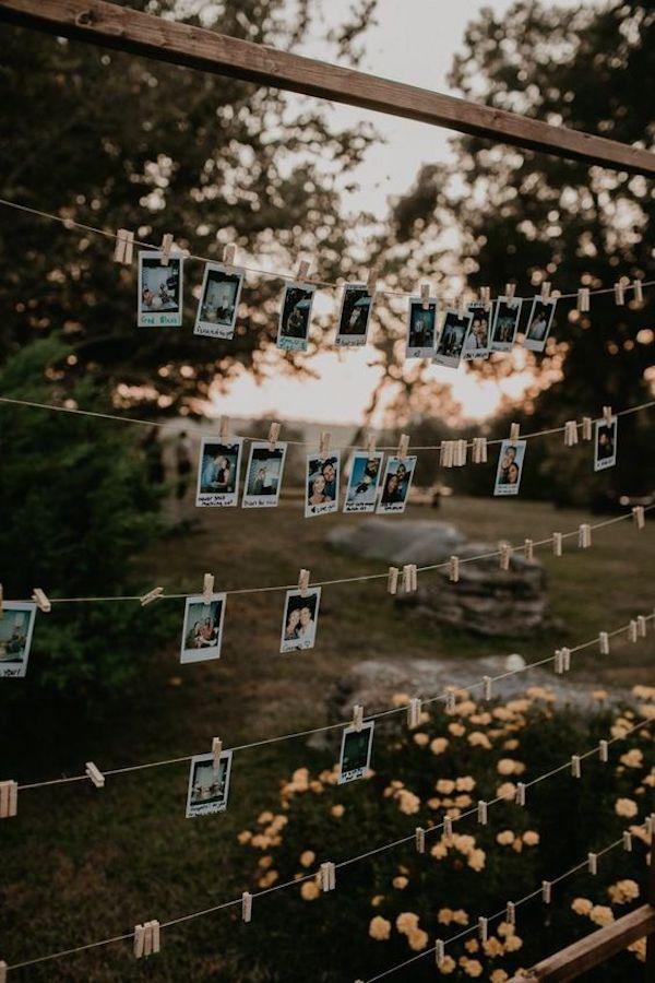 backyard wedding photo display ideas on a budget