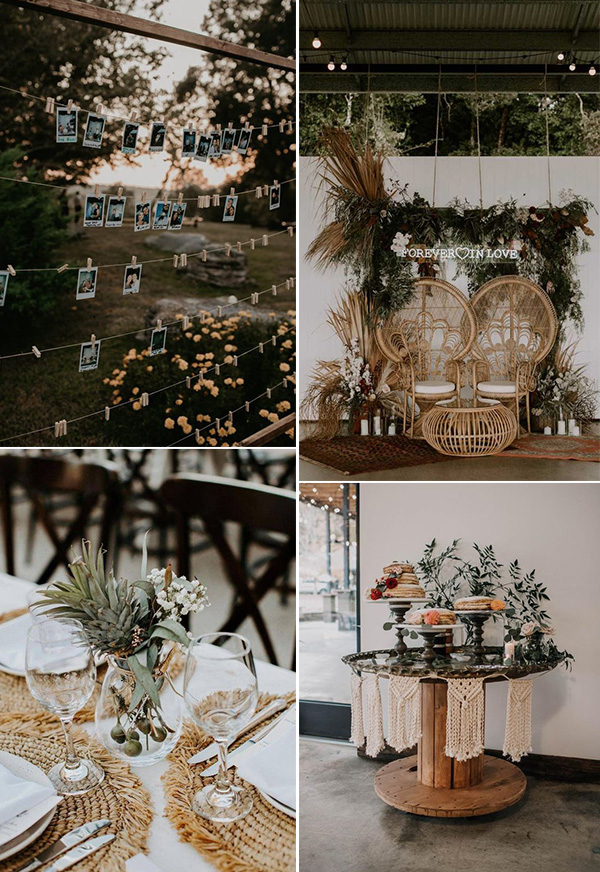 boho chic small backyard wedding ideas
