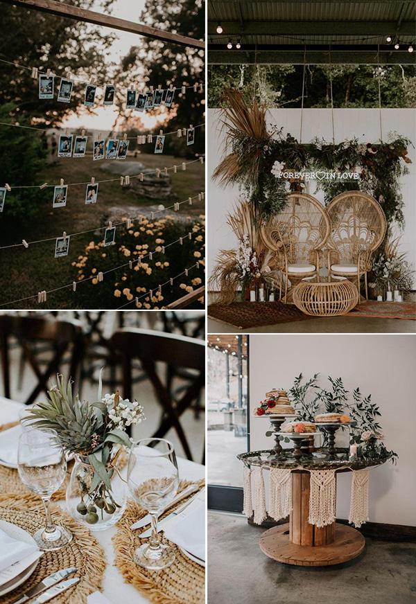 boho chic small backyard wedding ideas