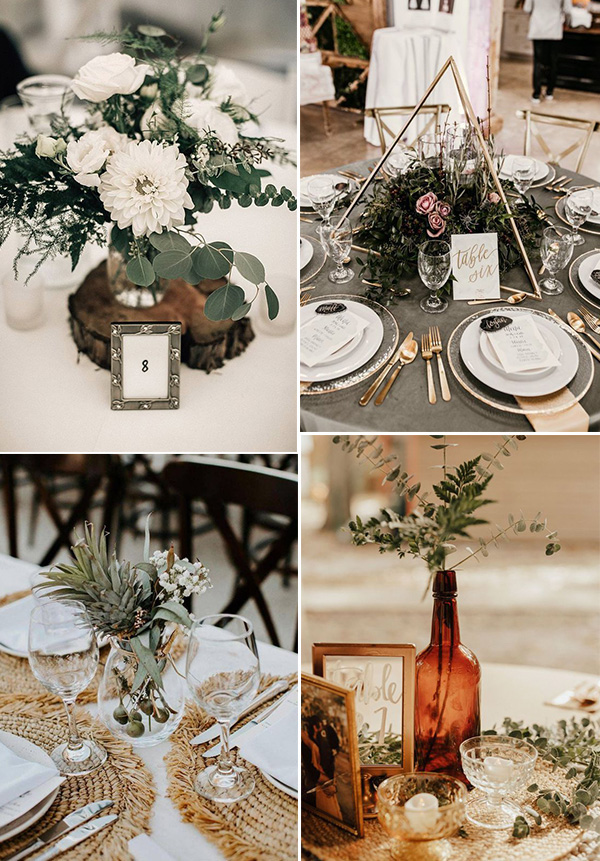 boho chic wedding centerpiece ideas
