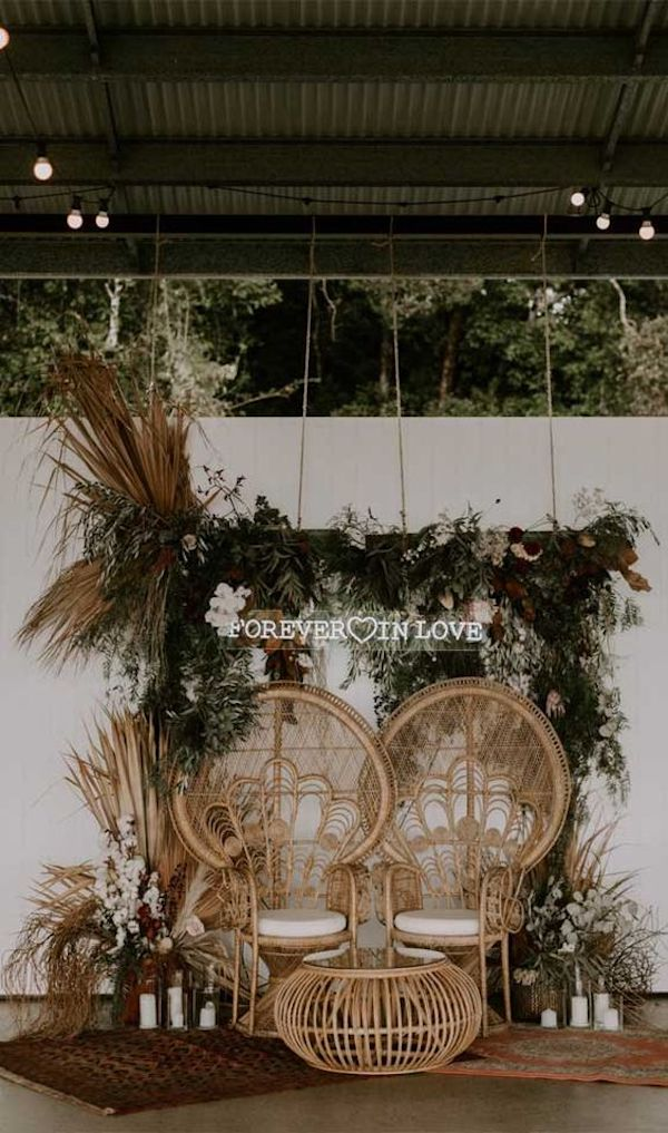 boho wedding backdrop decoration ideas