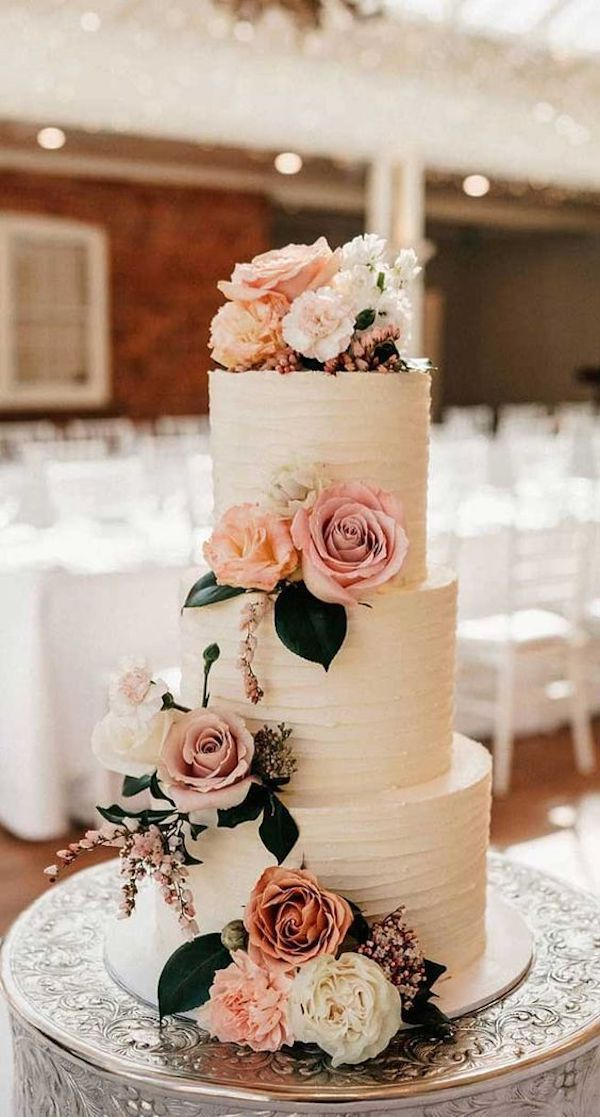 floral fall wedding cake ideas