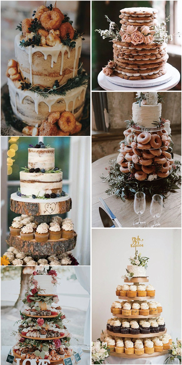 non-traditional fall wedding cake ideas