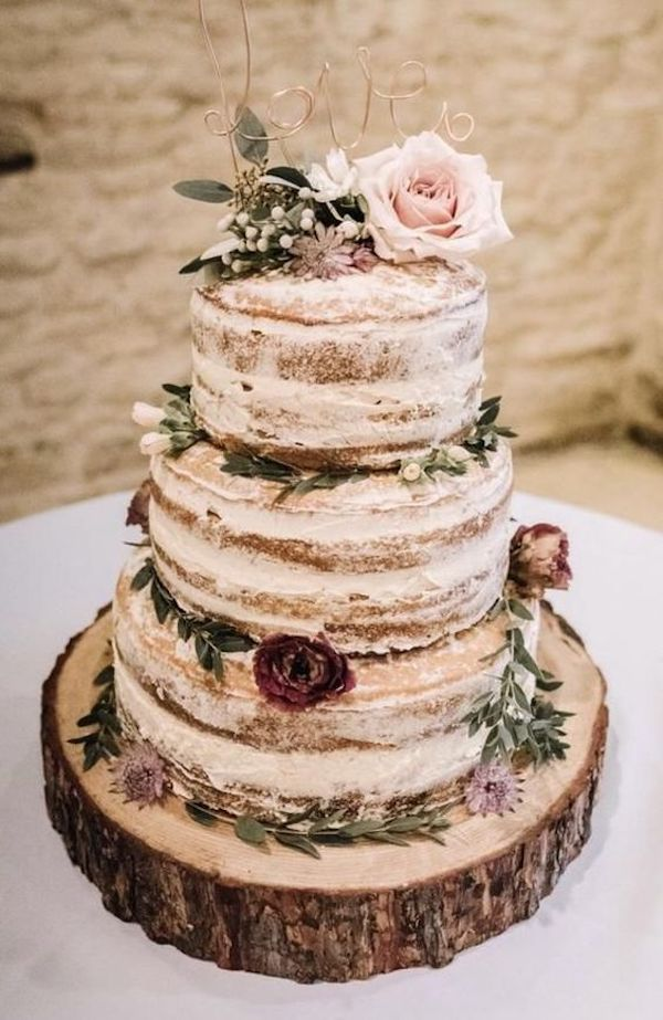 rustic fall wedding cake ideas