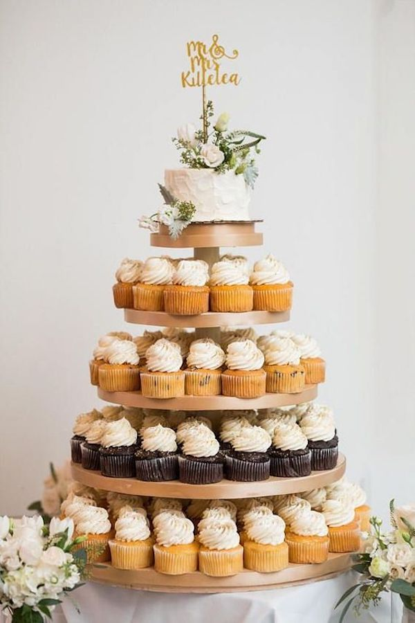 simple cupcake wedding cake ideas