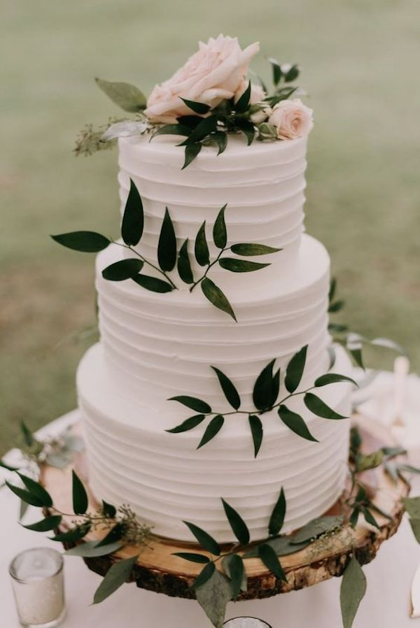 simple rustic fall wedding cake ideas