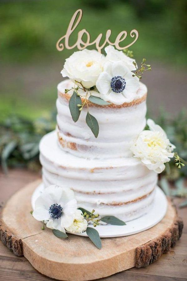 simple rustic fall wedding cake