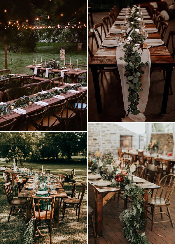 small boho wedding reception ideas
