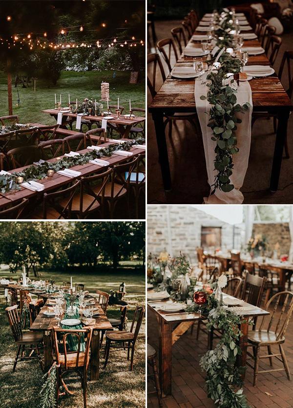 small boho wedding reception ideas