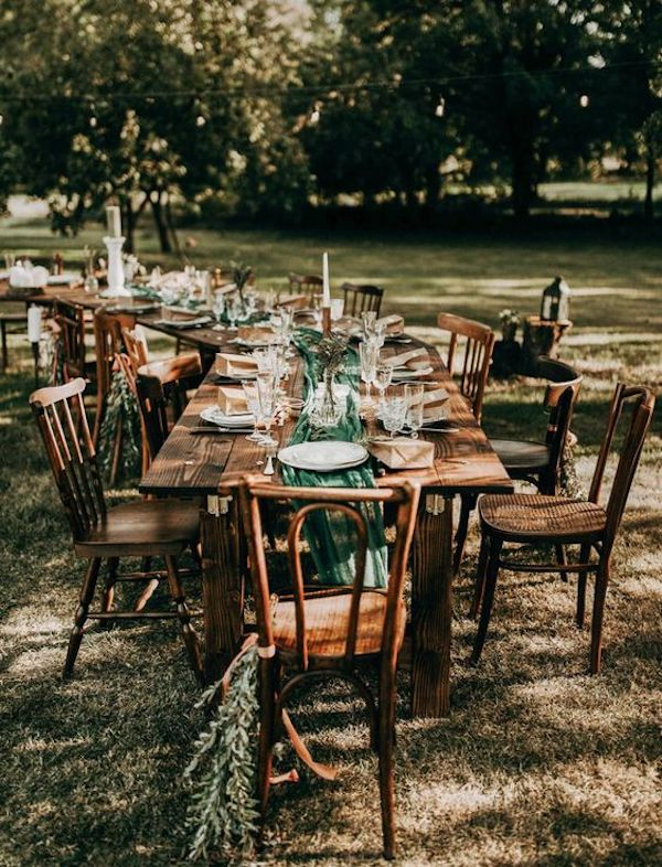small outdoor boho wedding reception ideas