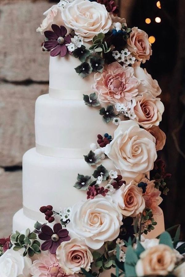 stunning floral wedding cake ideas