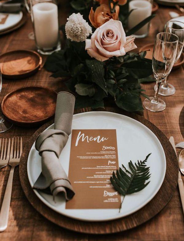 vintage boho chic wedding table setting ideas