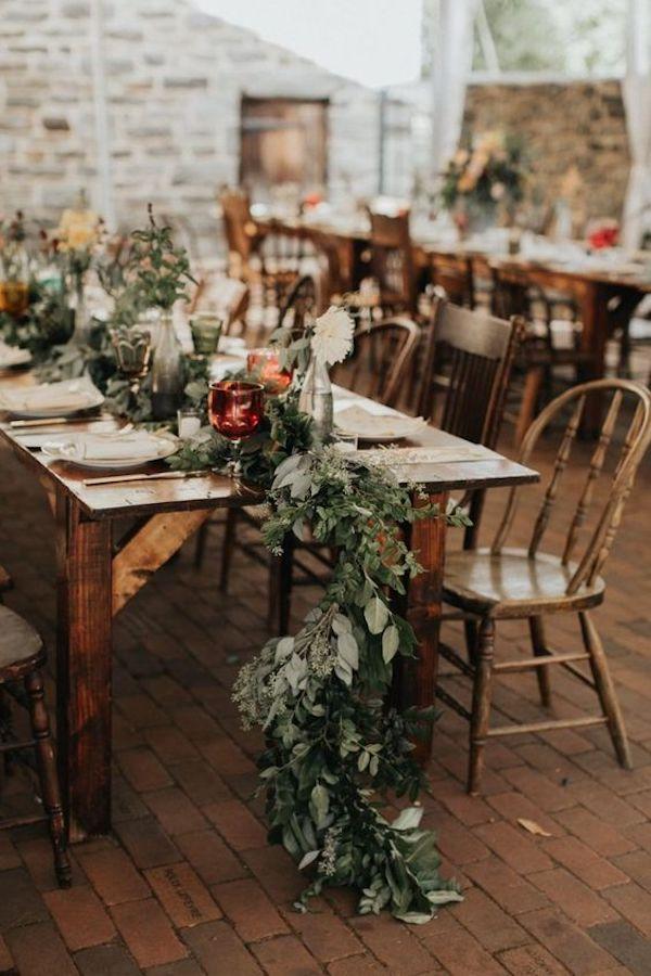 vintage boho wedding reception ideas