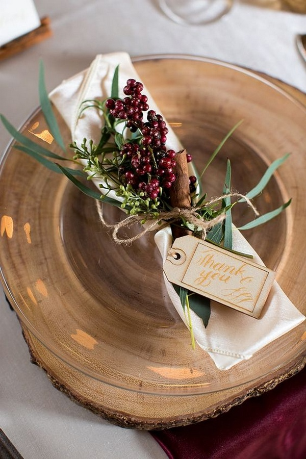 Rustic Winter Wedding Decor ideas