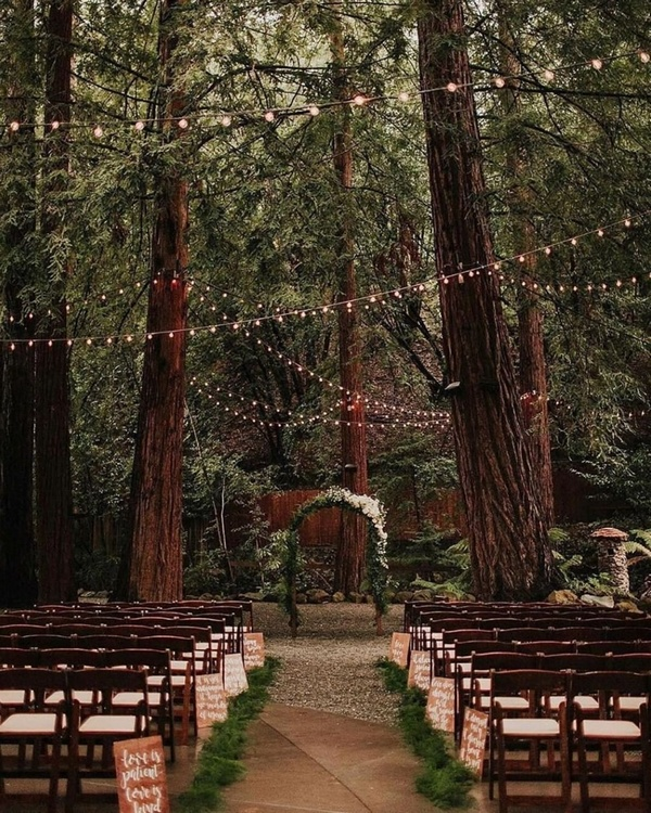 gorgeous wedding venue setting decoration ideas with lights 9