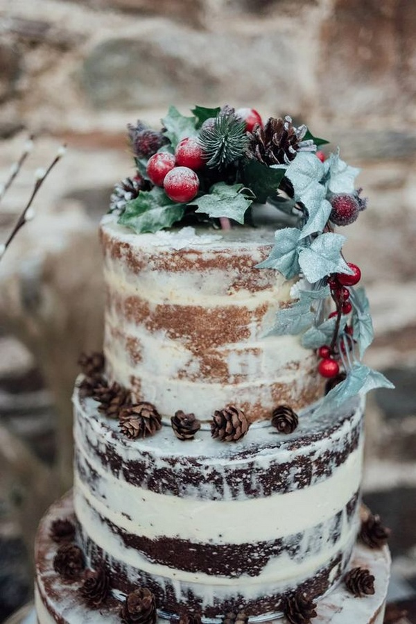 gorgeous winter wedding cake ideas