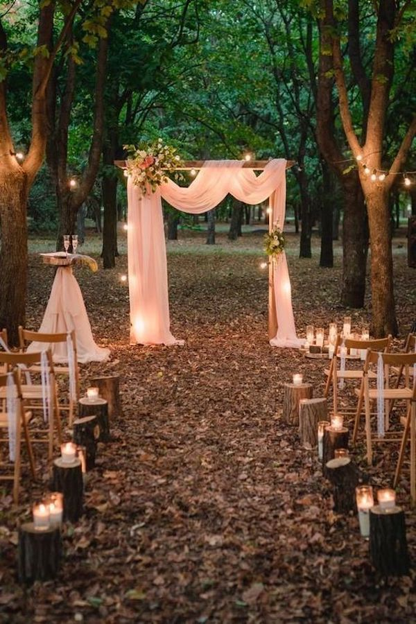 intimate wedding ceremony decoration ideas