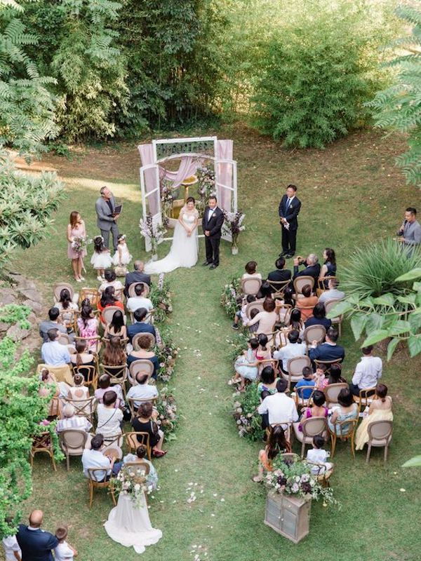 mixed seats for small wedding ceremony ideas