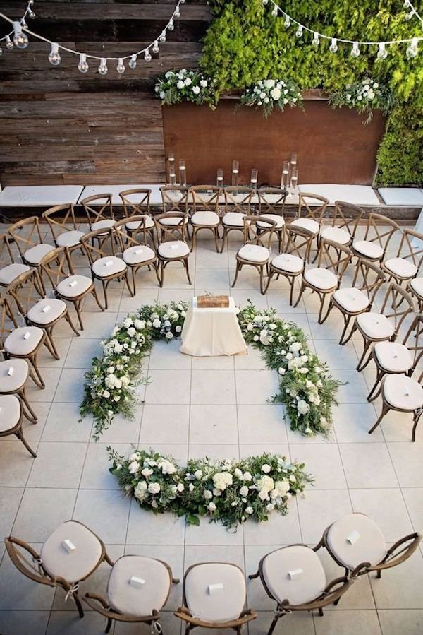 round wedding ceremony seating ideas